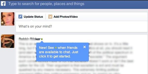 Facebook Diode ami connecte