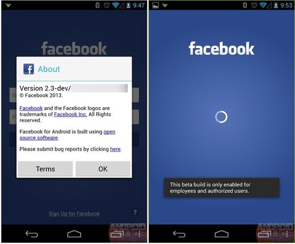 Facebook Home Fuite