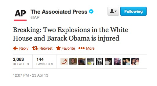 Faux Tweet Associated Press Obama