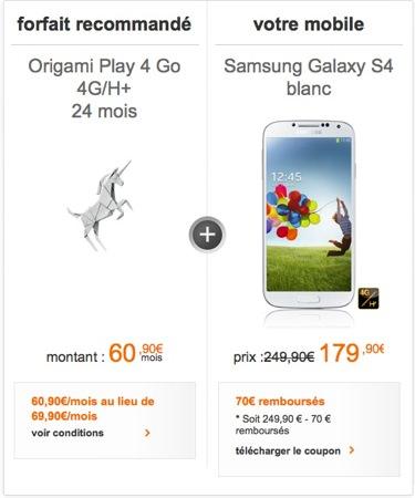 Galaxy S4 precommandes Orange