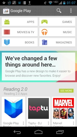 Google Play Store Nouvelle interface
