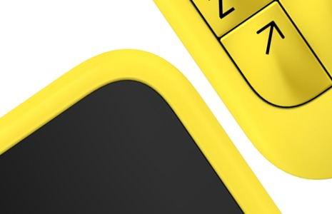 Nokia clavier physique jaune