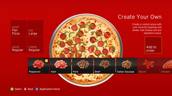 Pizza Hut Xbox