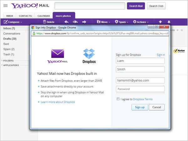 dropbox-sign-up-yahoo