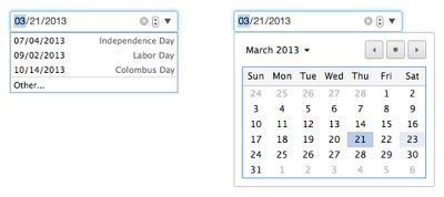Chrome 27 Calendrier