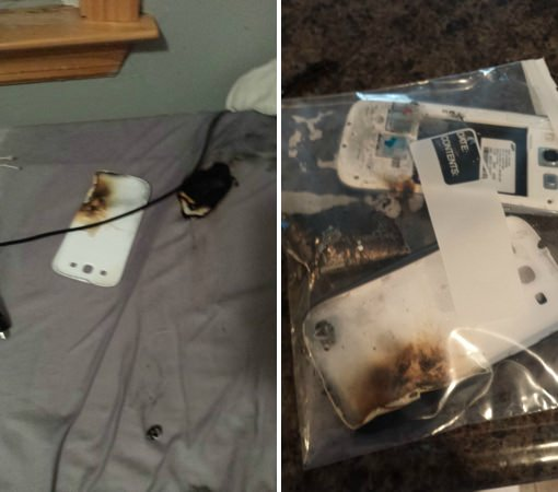 Galaxy S3 prend feu