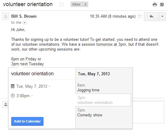 Gmail evenement google agenda