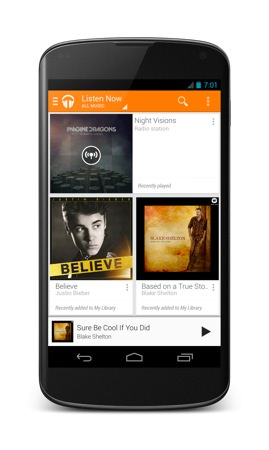 Google Play Music All Access Android