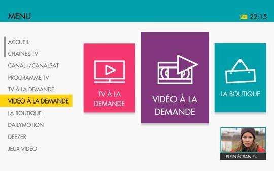Interface TV Livebox Sosh