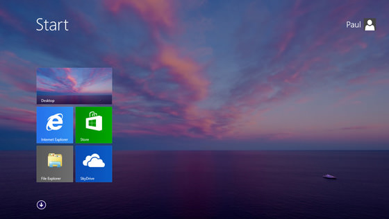 Windows 8.1 Fond decran bureau sur page accueil