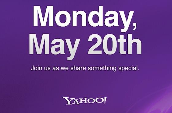Yahoo Invitation 20 mai 2013