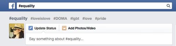 Facebook Hashtag relatif