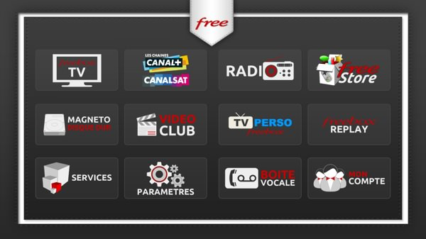 Freebox Crystal Interface TV