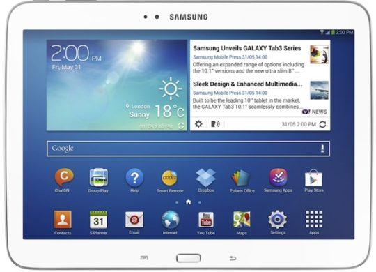 Galaxy Tab 3 10,1 pouces