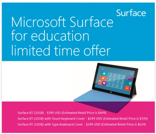 Microsoft Surface Promo Ecoles