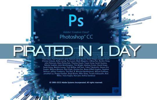Photoshop CC Pirate 1 jour