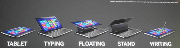 Samsung ATIV Q Differentes Positions