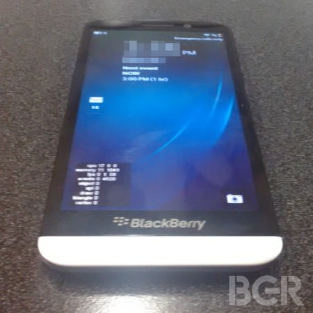 BlackBerry A10 Fuite