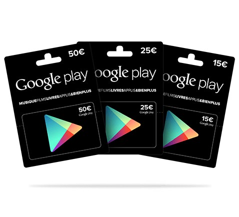 Carte cadeau Google Play