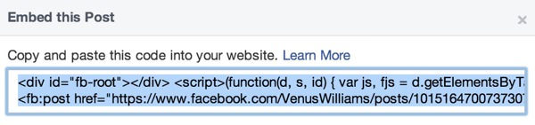 Facebook Integration Statut 2
