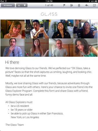 Google Glass Inviter Amis