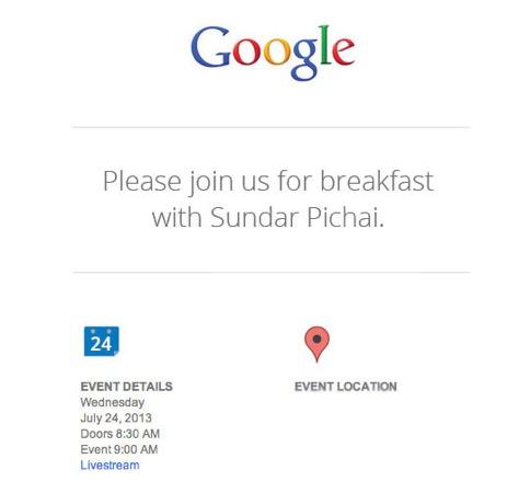 Google Invitation Presse 24 juillet 2013