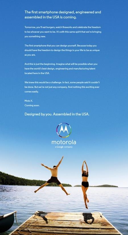 Moto X Publicite Patriotique