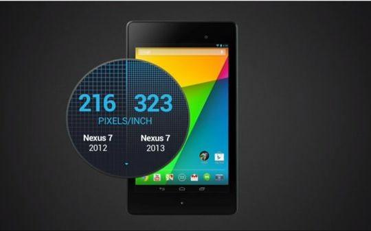 Nouvelle Nexus 7 Pixels
