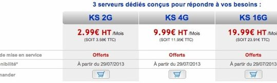 OVH Kimsufi a partir de 2,99 euros par mois