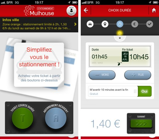 Stationnement Mulhouse Application