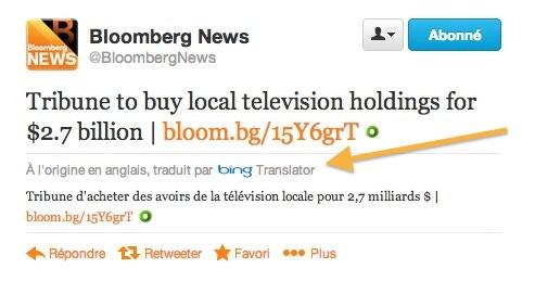 Twitter Bing Traduction