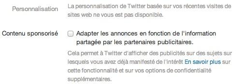 Twitter Tweets sponsos partenaires