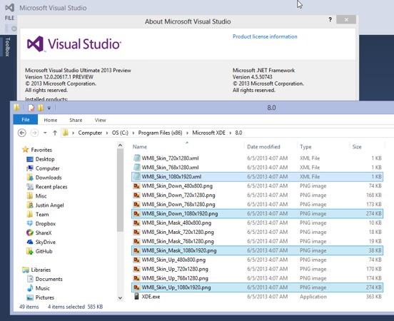 Windows Phone 8 1080p Emulateur