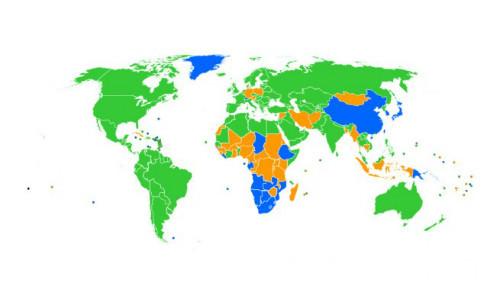 carte monde navigateurs
