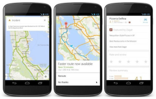 google maps android maj