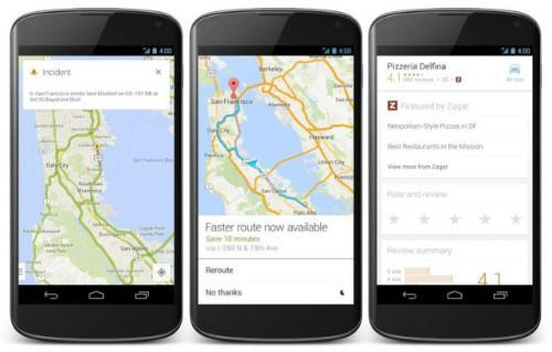 google maps android maj