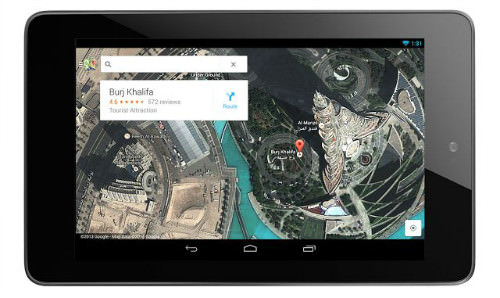 google maps android tablette