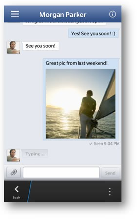 Facebook BB10 Messages