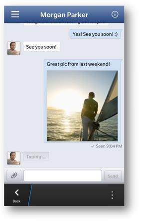 Facebook BB10 Messages