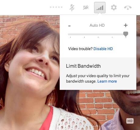 Google Hangouts Haute Definition