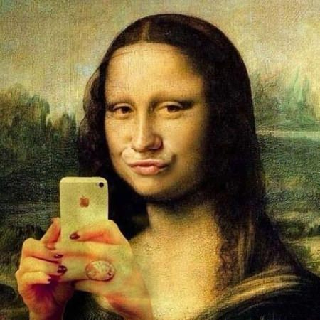 Mona Lisa Duke Face Selfie