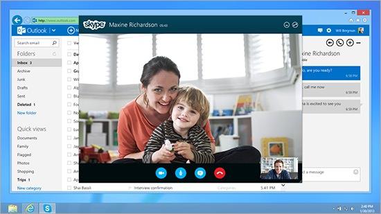 Skype sur Outlook