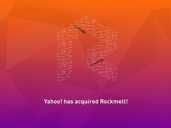 Yahoo achete Rockmelt