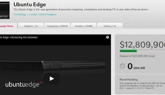 ubuntu-edge indiegogofail