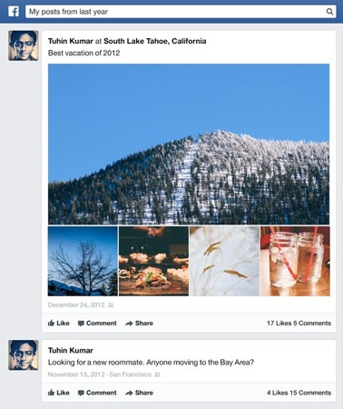 Facebook Graph Search Statuts passes