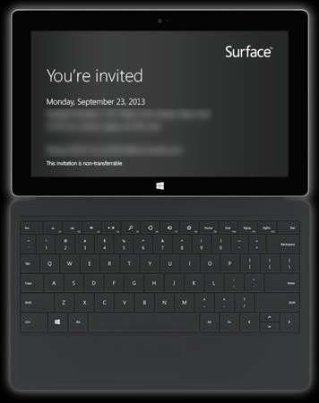 Invitation Conference Surface 2 Microsoft