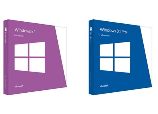 Windows 8.1 Boites