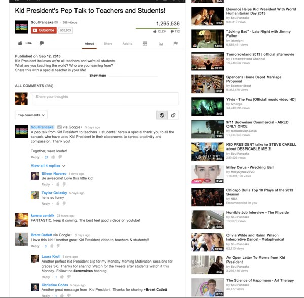 YouTube Arrivee Commentaires Google+ 2