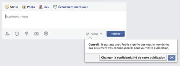 Facebook Jeune Message Public 2