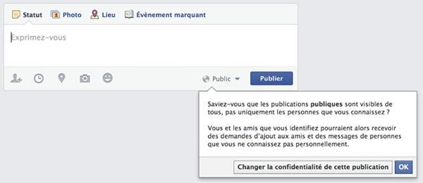 Facebook Jeune Message Public